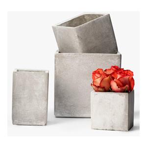 Concrete Square Vases picture image