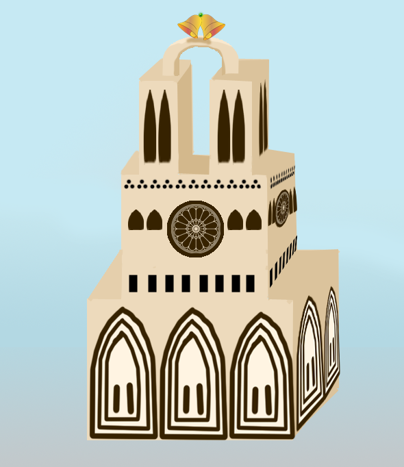 Notre Dame Wedding cake Design picture image