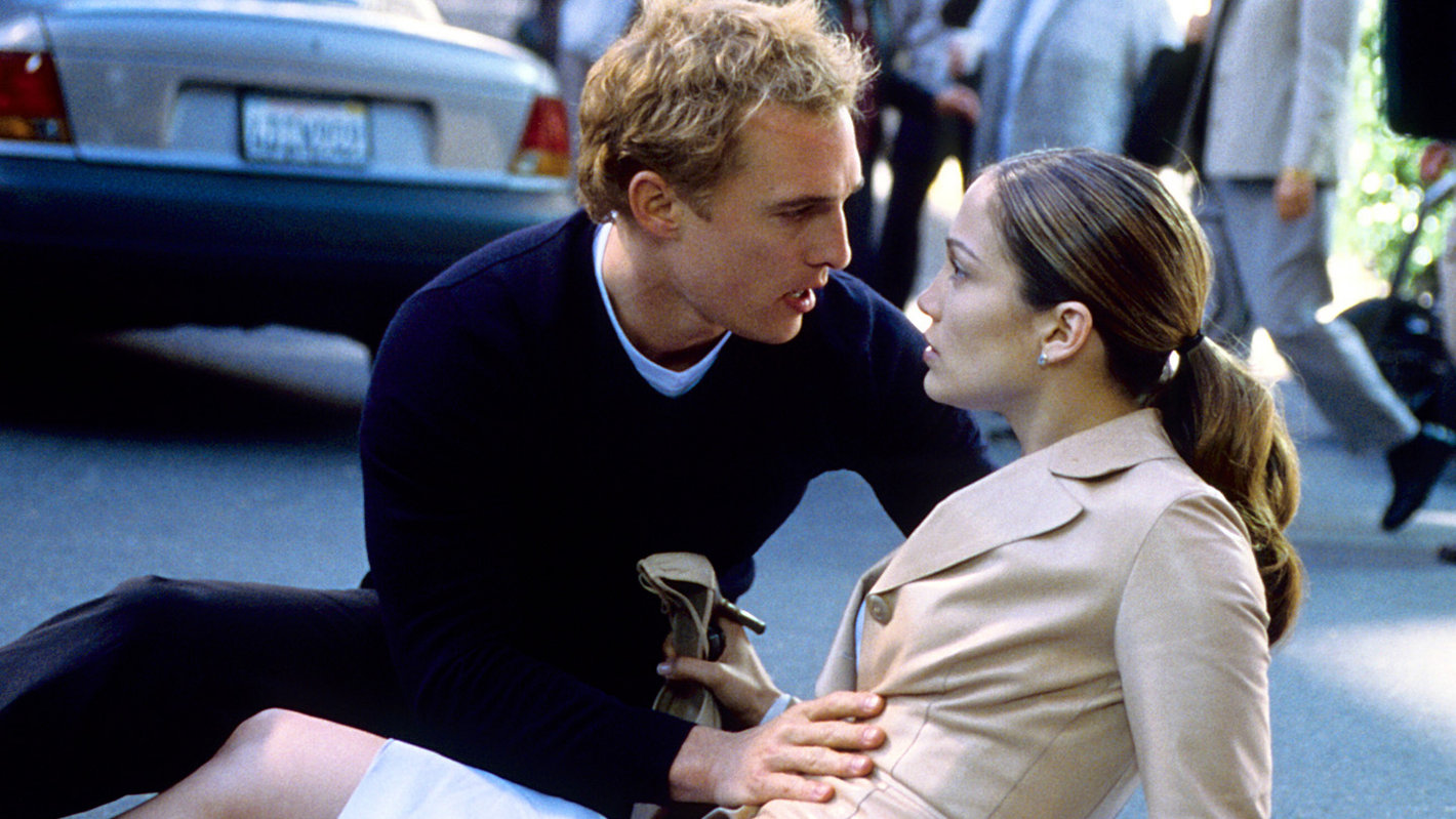 Steve (Matthew McConaughey) saving Mary (Jennifer Lopez) The Wedding Planner picture image