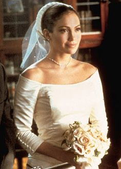 Mary (Jennifer Lopez) in her wedding gown The Wedding Planner picture image