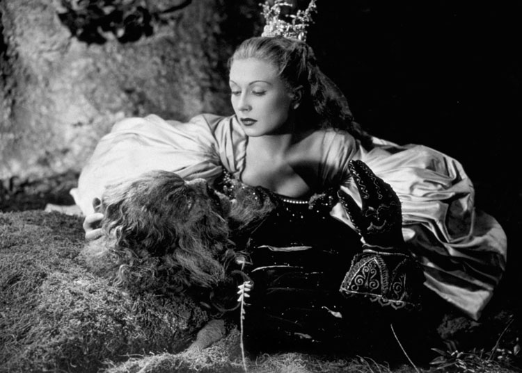 Josette Day as Belle and Jean Marais as The Beast La Belle et la Bete Jean Cocteau 1946 picture image