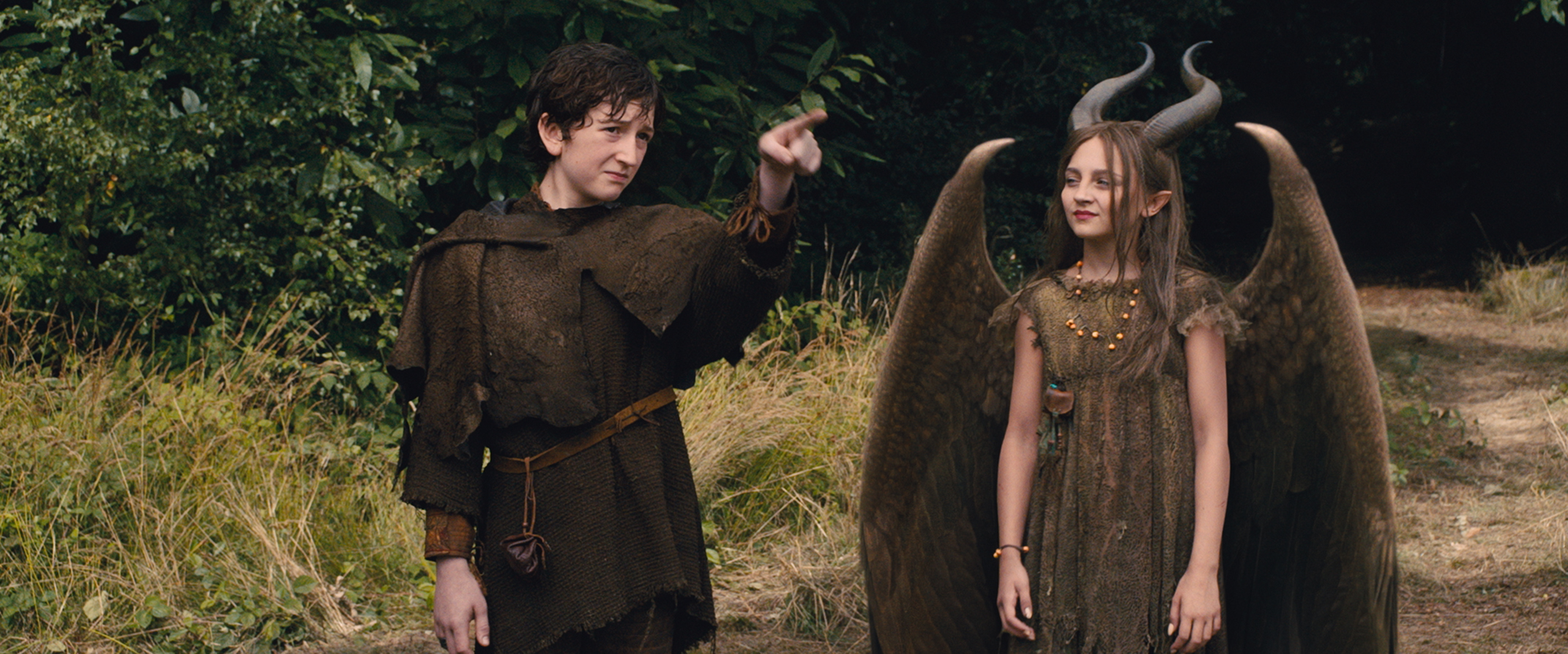 Isobelle Molloy as Young Maleficent with Michael Higgins as Young Stefan picture image