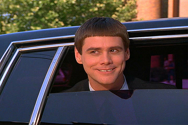 Jim Carrey  as Lloyd from Dumb and Dumber picture image