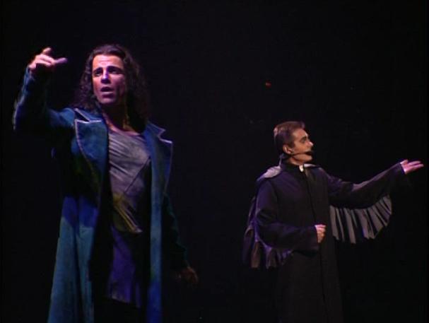 Bruno Pelletier as Gringoire and Daniel Lavoie performing  Florence  Notre Dame de Paris picture image