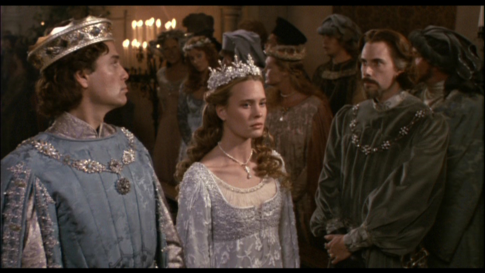 Robin Wright as Buttercup with Chris Sarandon as Prince Humperdinck and Christopher Guest as Count Rugen The Princess Bride picture image