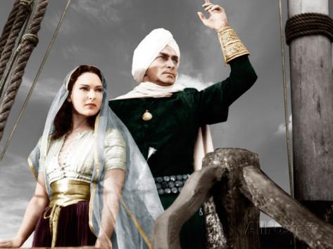 June Duprez as the Princess and Conrad Veidt as Jaffar The Thief of Bagdad 1940