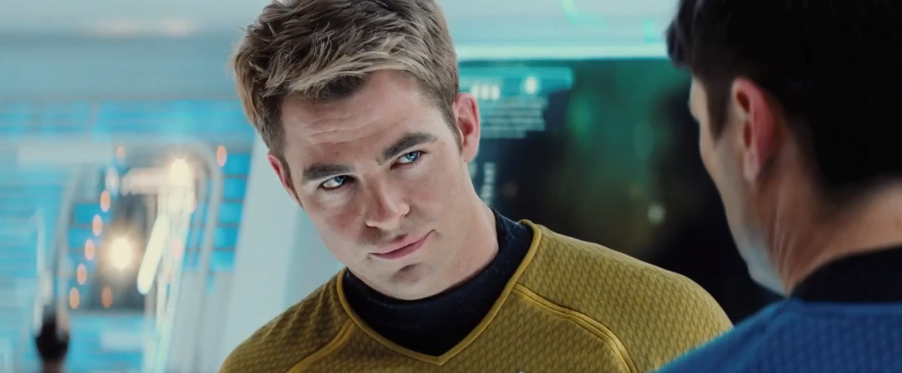 Chris Pine as James. T Kirk from Star Trek   picture image