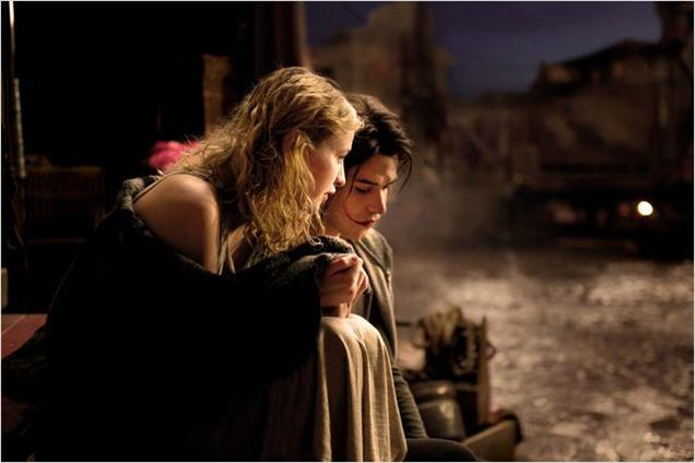 Marc-André Grondin as Gywnplaine and Christa Théret as Dea The Man Who Laughs picture image