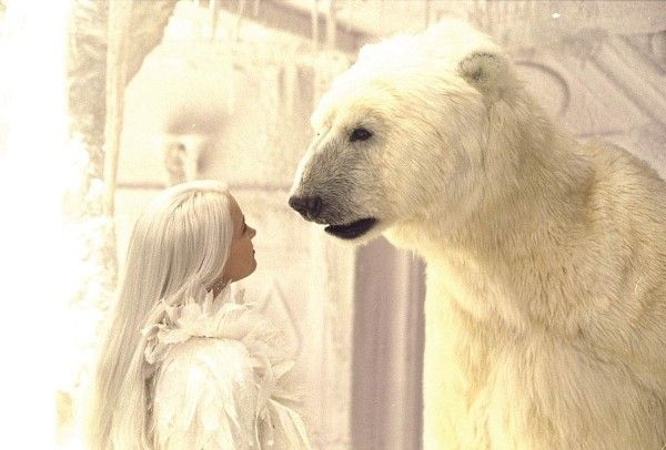 Bridget Fonda as Snow Queen with the Polar Bear The Snow Queen picture image