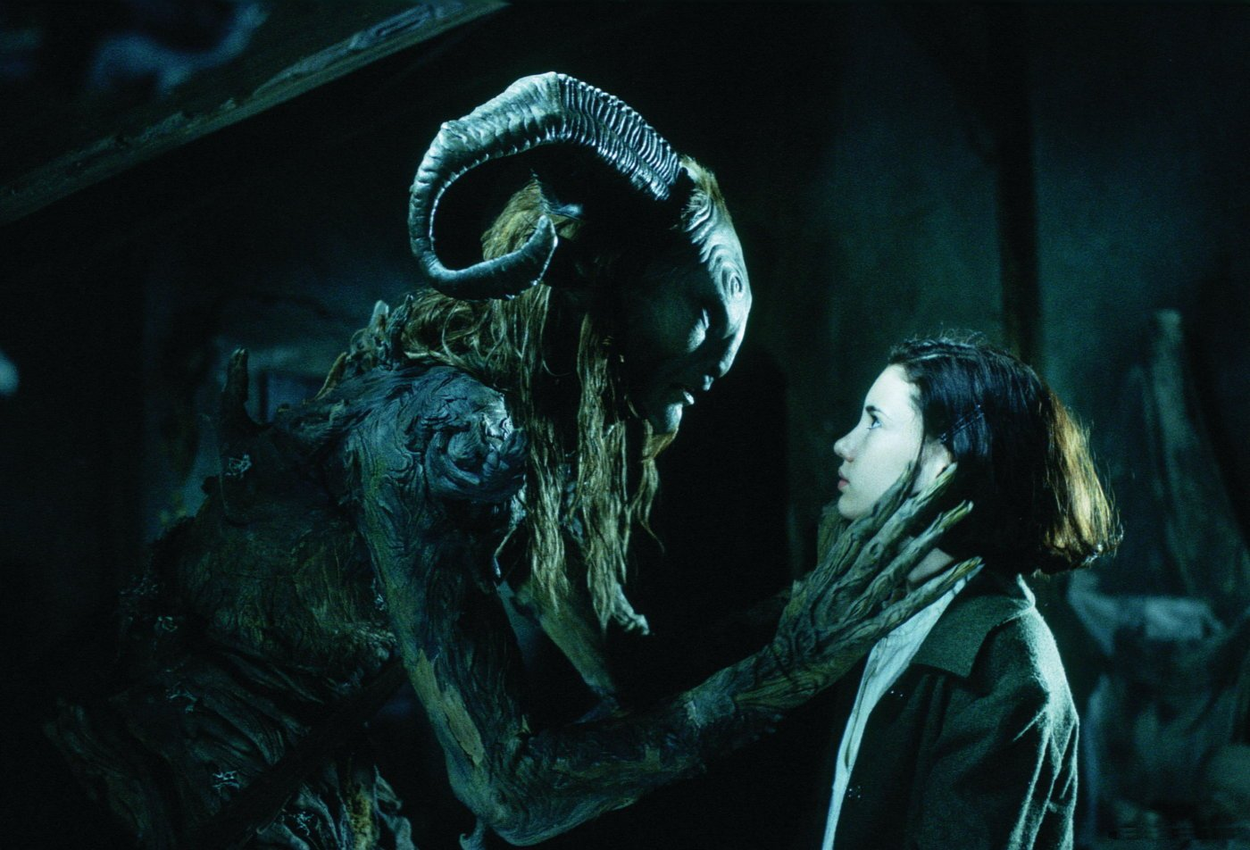 Ivana Baquero as Ofelia with Faun Pan's Labyrinth picture image