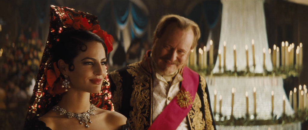 Jana Perez as Princess Chelina and Stellan Skarsgård as The Grand Duke Cinderella 2015 picture image