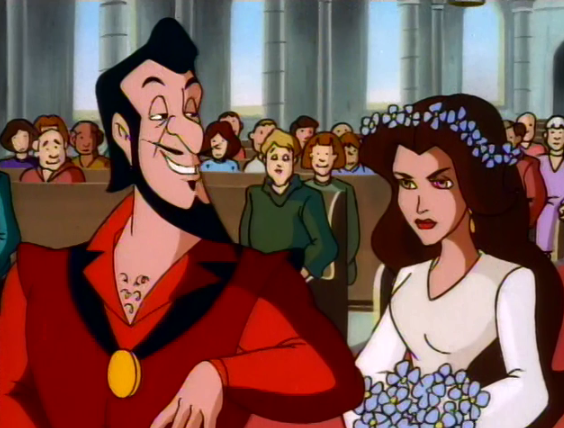 Frollo and Esmeralda's wedding The Secret of the Hunchback picture image