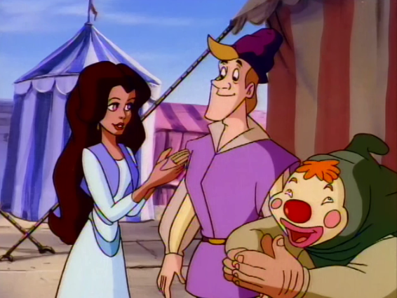 Esmeralda with Pierre and masked Quasimodo The Secret of the Hunchback picture image