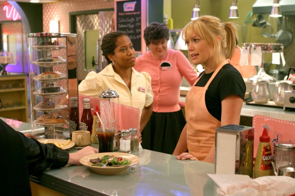 Hilary Duff as Sam and Regina King as Rhonda A Cinderella Story 2004 picture image