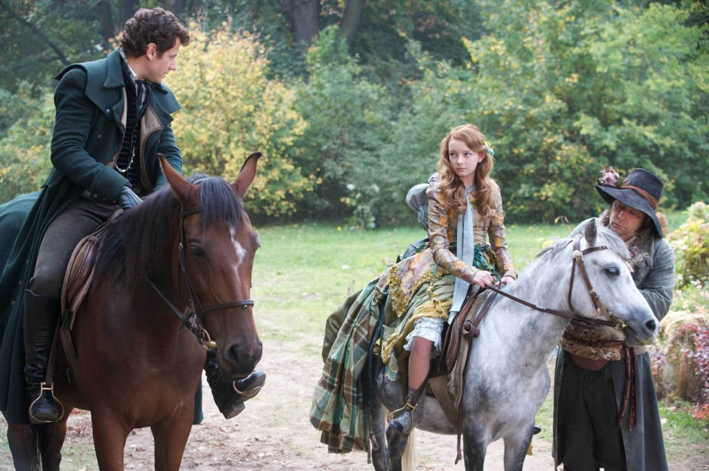 Dakota Blue Richards as Maria Merryweather & Ioan Gruffudd as Sir Benjamin Merryweather The Secret of Moonacre picture image