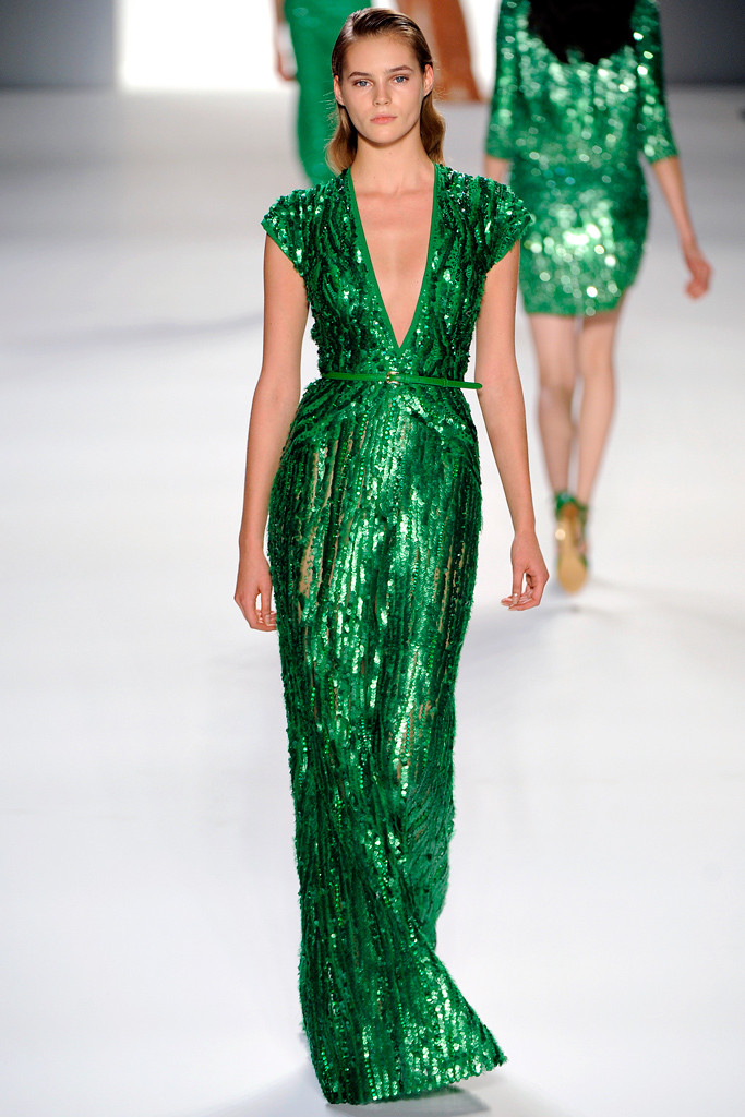 Emerald Gown by Elie Saab Spring 2012 picture image