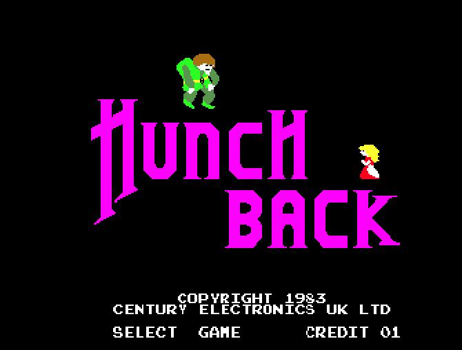 Hunchback 1983 Arcade Game picture image