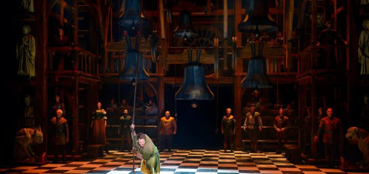 Michael Arden as Quasimodo, Musical Production of Hunchback of Notre Dame picture image