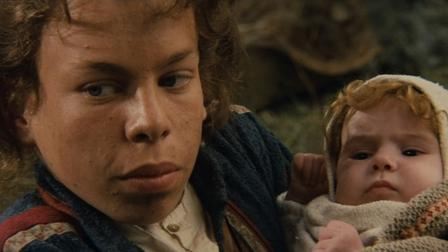 Warwick Davis as Willow with Elora Dunan Willow picture image