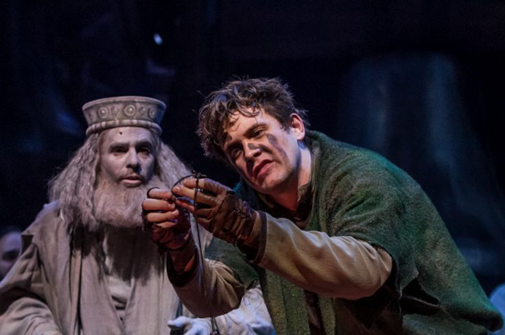 Michael Arden as Quasimodo with Saint Aphrodisius, Musical Production of Hunchback of Notre Dame  picture image