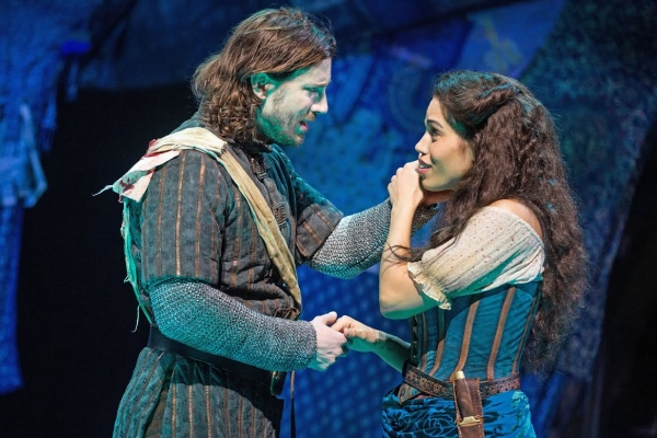 Ciara Renée as Esmeralda and Andrew Samonsky as Phoebus Hunchback of Notre Dame de Paris picture image