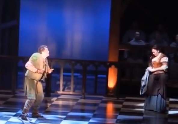 Michael Arden as Quasimodo performing Made of Stone Hunchback of Notre Dame picture image