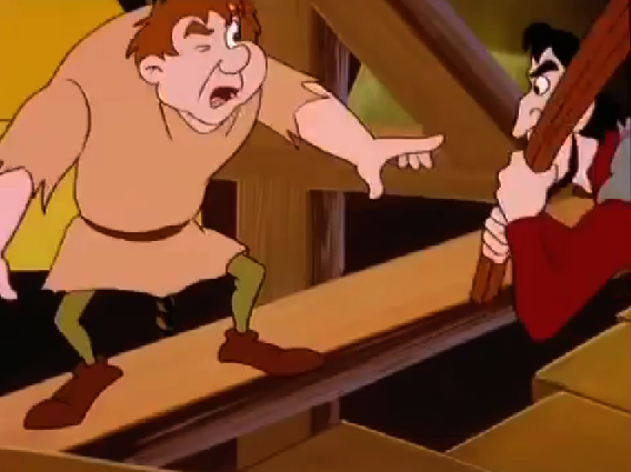 Quasimodo fighting Frollo Other Burbank Hunchback of Notre Dame picture image