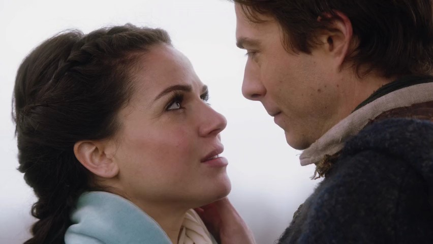 Lana Parrilla as Regina & Noah Bean as Daniel ABC's Once Upon a Time, The Stable Boy picture image