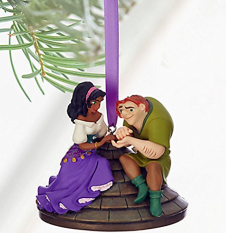 Disney Quasimodo and Esmeralda Christmas ornament Hunchback of Notre Dame picture image