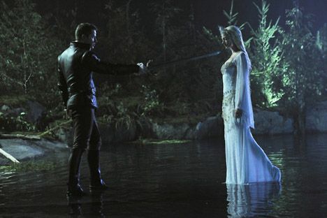 Josh Dallas as Prince Charming/James & Aria Pullman as the Siren ABC's Once Upon a Time, What Happened to Frederick picture image
