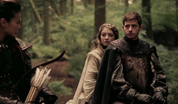 Sarah Bolger as Princess Aurora, Julian Morris as Prince Phillip & Jamie Chung as Mulan Once Upon a Time Season 2 Episode 1 Broken picture image