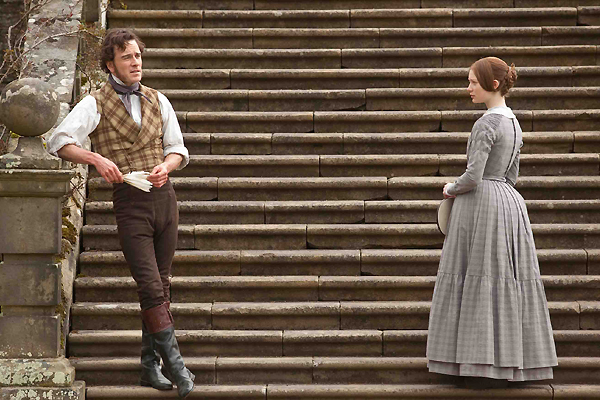 Mia Wasikowska as jane Eyre & Michael Fassbender as Edward Rochester Jane Eyre 2011 picture image