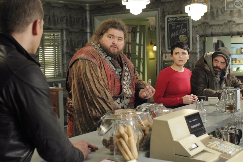 Jorge Garcia as Anton, Ginnifer Goodwin as Snow White, Lee Arenberg as Grumpy and Josh Dallas as Charming Once Upon a Time Season 2 Episode 13 Tiny picture image