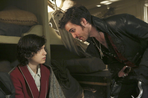 Colin O'Donoghue as Captain Hook & Dylan Schmidt as Baelfire Season 2 Episode 22 And Straight on till Morning, ABC Once Upon a Time picture image