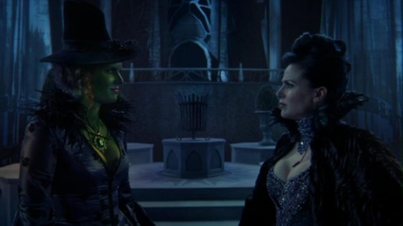 Lana Parrilla as Regina & Rebecca Mader as Zelena ABCs Once Upon a Time Witch Hunt picture image