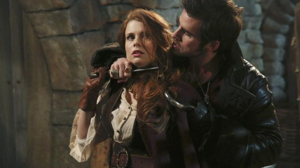 Colin O'Donoghue as Captain Hook & Joanna Garcia Swisher as Ariel ABCs Once Upon a Time The Jolly Roger picture image
