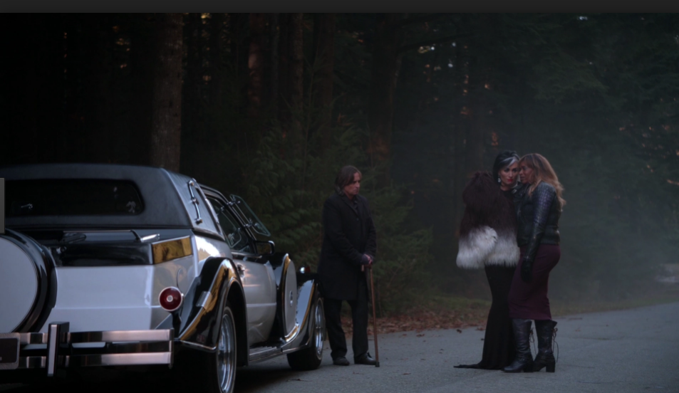 Robert Carlyle as Rumplestiltskin, Victoria Smurfit as Cruella De Vil & Merrin Dungey as Ursula Once Upon A Time Season 04 Episode 13 Darkness on the Edge of Town picture image
