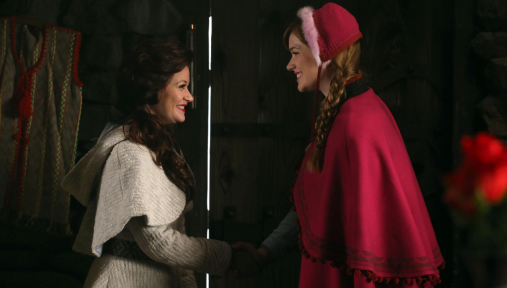 Emilie de Ravin as Belle & Elizabeth Lail as Anna ABC Once Upon a Time Family Business picture image