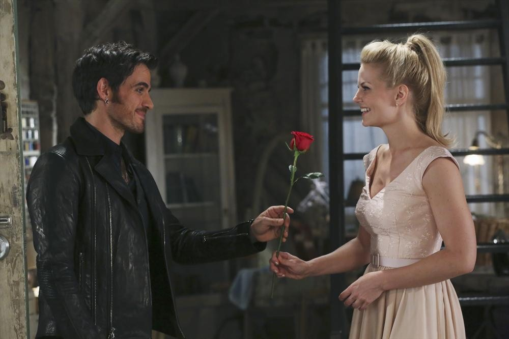 Colin O'Donoghue as Captain Hook & Jennifer Morrison as Emma Swan ABC Once Upon a Time picture image