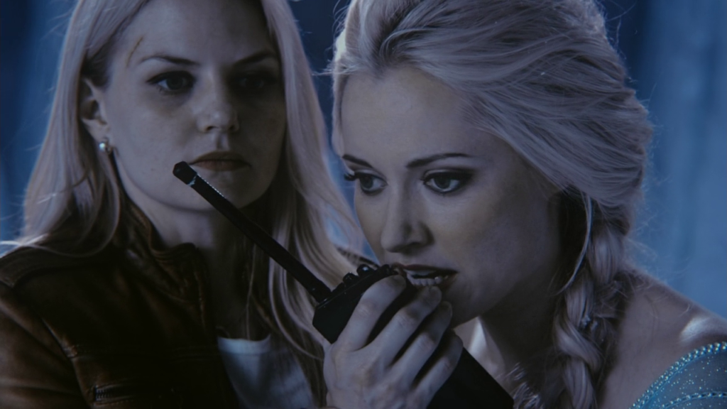 Jennifer Morrison as Emma Swan & Georgina Haig as Elsa ABC's Once Upon a Time White Out picture image