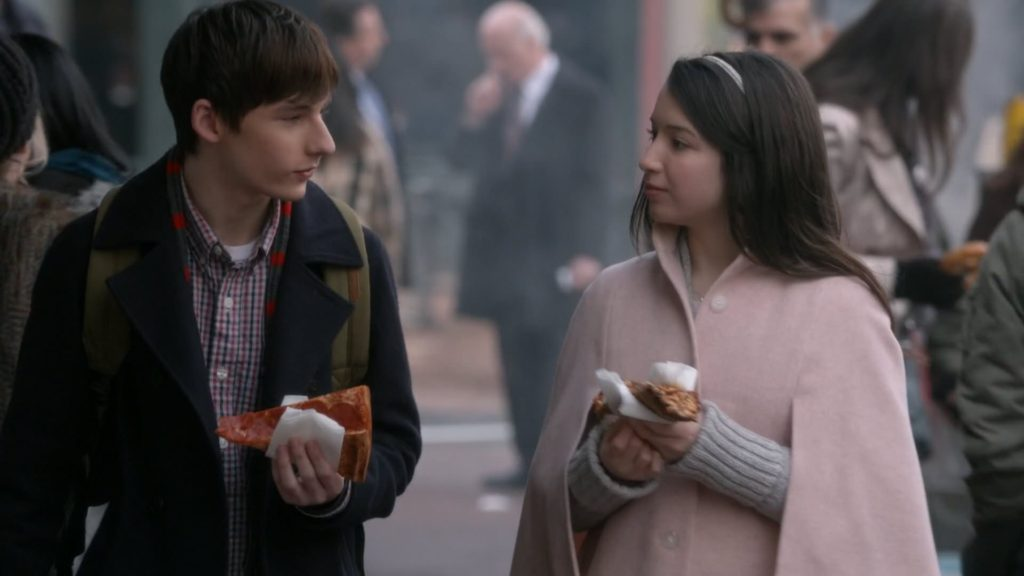 Jared S. Gilmore as Henry & Olivia Steele Falconer as Violet Once Upon a Time Season 5 Episode 22 Only You review picture image
