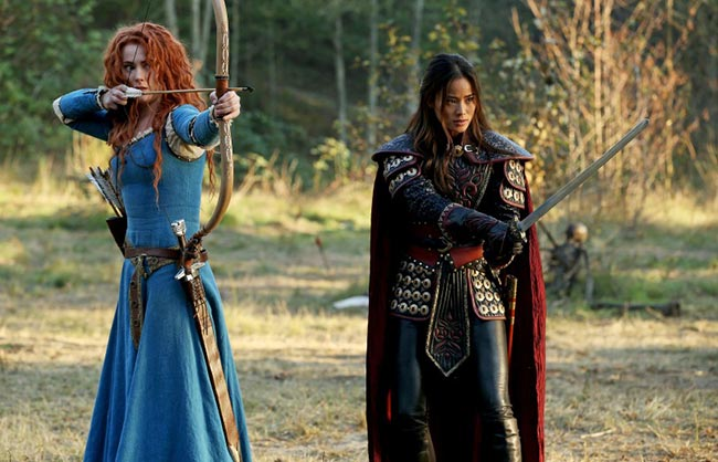 Amy Manson as Merida & Jamie Chung as Mulan Once Upon a Time Season 5 Episode 9 The Bear King review picture image
