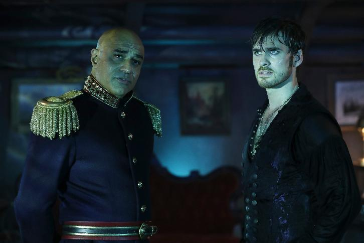Colin O'Donoghue as Hook & Faran Tahir as Nemo Once Upon a Time Season 6 Episode 6, Dark Waters picture image