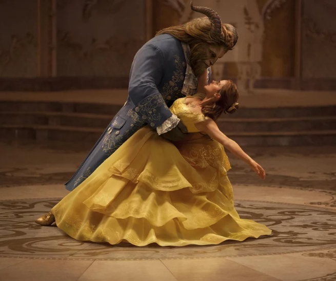 Emma Watson as Belle and Dan Stevens as The Beast 2017 Beauty and the Beast picture image