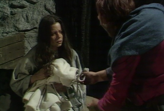 Michelle Newell as Esmeralda & Warren Clarke The Hunchback of Notre Dame 1977 picture image