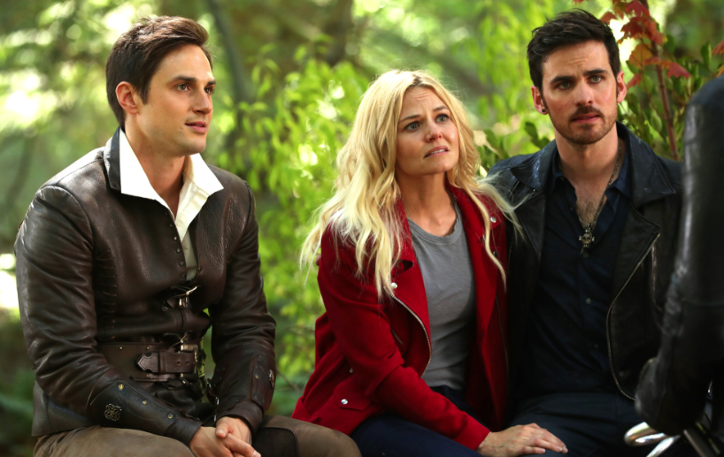 Andrew J. West as Henry Mills, Jennifer Morrison as Emma Swan and Colin O'Donoghue as Hook Once Upon a Time Season 7 Episode 2 A Pirate's Life picture image