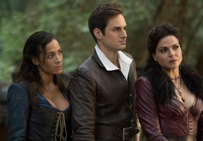 Dania Ramirez as Cinderella, Andrew J. West as Henry Mills & Lana Parrilla as Regina Once Upon a Time Season 7Episode 3 The Garden of the Forking Path picture image