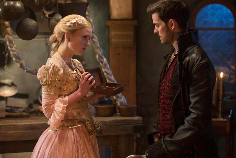 Meegan Warner a Rapunzel & Colin O'Donoghue as Wish Hook Once Upon a Time Season 7 episode 7 Eloise Gardner picture image