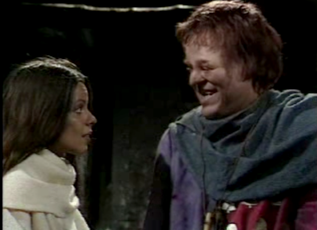 Michelle Newell as Esmeralda & Warren Clarke as Quasimodo 1977 The Hunchback of Notre Dame picture image