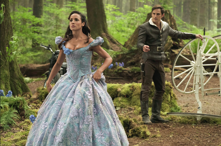 Dania Ramirez as Cinderella & Andrew J. West as Henry Mills Once Upon a Time Season 7 Episode 1 Hyperion Heights picture image picture image